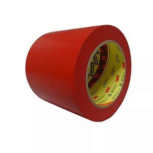 Fita de Demarcação de Solo 3M 100mm x 30mt Vermelha