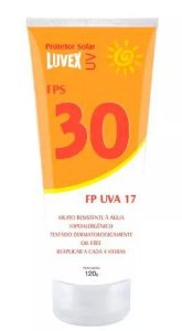 PROTETOR SOLAR LUVEX UV FPS 30 UVA 17 BISNAGA 120GR