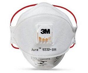 MASCARA 3M PFF3 AURA 9332+ BR VALVULADA CA 42476