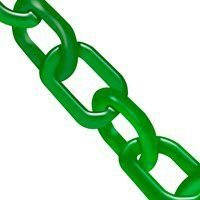 Corrente Plastica Verde Elo Pequeno 6mm