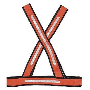Colete X Laranja COM REFLETIVO