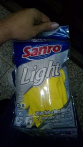 LUVA SANRO LIGHT (CONFORT) LATEX AMARELA CA 43301