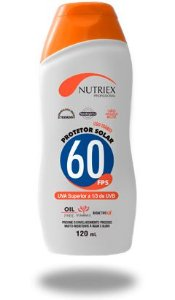 PROTETOR SOLAR NUTRIEX  FPS 60 1/3 UVA 120ML