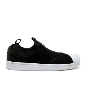 322587204 TÊNIS ADIDAS SUPERSTAR SLIP ON - PRETO
