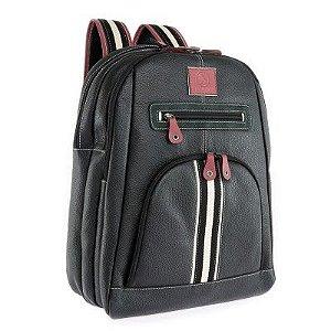 Mochila de couro para Notebook 15.6 polegadas Bennemann Preta 5245