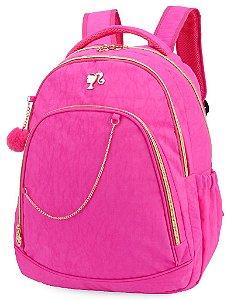 Mochila Juvenil Barbie Crinkle para Notebook Rosa MJ48498BB-RA