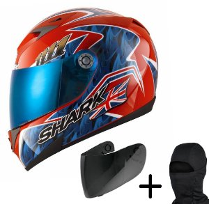 Capacete Moto Shark S700 Réplica Foggy 20th Birthday RBA