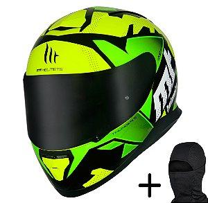 Capacete Moto MT Thunder 3 Torn Amarelo Verde