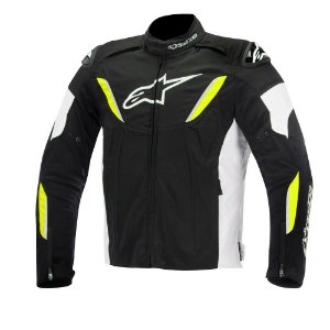 Jaqueta Moto Alpinestars T-GP R Preta Amarela Impermeável
