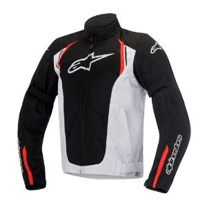 Jaqueta Moto Alpinestars AST Preta Branca Vermelha Verão