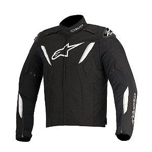 Jaqueta Moto Alpinestars T-GP R Preta Branca Impermeável