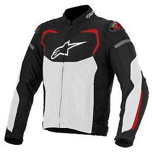Jaqueta Moto Alpinestars T-GP Pro Preta Branca Vermelha