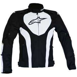 Jaqueta Moto Alpinestars Caladan Preta Branca Impermeável