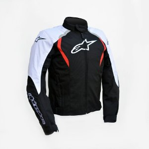 Jaqueta Moto Alpinestars Alux Preta Vermelha Impermeável