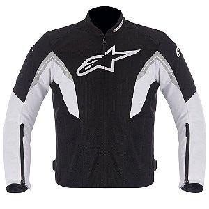 Jaqueta Moto Alpinestars Viper Preta Branca Verão Motoqueiro