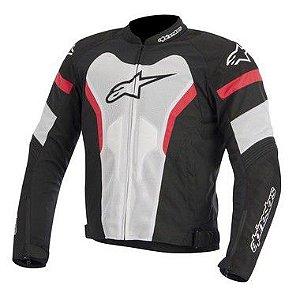Jaqueta Moto Alpinestars T-GP Pro Branca Vermelha Verão