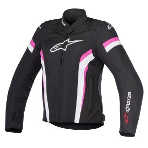 Jaqueta Moto Feminina Alpinestars T-GP Plus R V2 Preto Rosa
