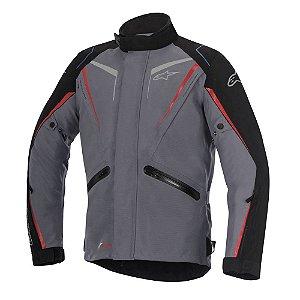 Jaqueta Moto Alpinestars Yokohama Cinza Vermelha Impermeável