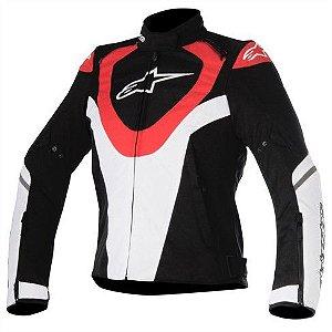 Jaqueta Moto Feminina Alpinestars Caladan Pt Vrm Impermeável