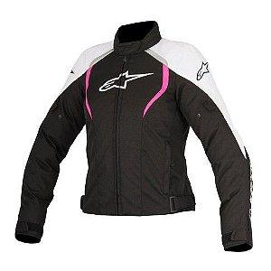 Jaqueta Moto Feminina Alpinestars Alux Preta Rs Impermeável