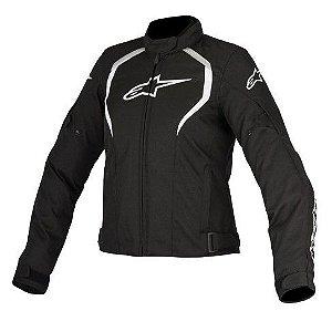 Jaqueta Moto Feminina Alpinestars Alux Preta Impermeável