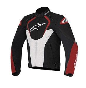 Jaqueta Moto Alpinestars T-Jaws Preta Vermelha Impermeável