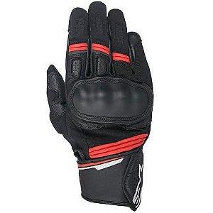 Luva Moto Alpinestars Booster Preta Vermelha