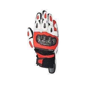 Luva Moto Alpinestars SPX Air Carbon Preta Branca Vermelha