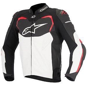 Jaqueta Moto Alpinestars GP Pro Preta Branca Vermelha Couro
