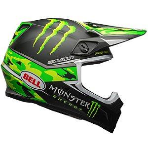 Capacete Moto Bell MX-9 MIPS Pro Circuit Replica Camo Verde