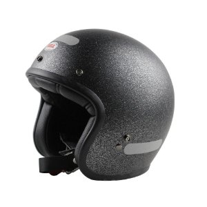 Capacete Moto Bell Custom 500 Solid Flake Preto