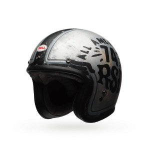 Capacete Moto Bell Custom 500 RSD 74 Preto Prata