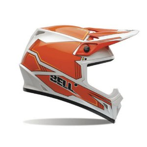 Capacete Moto Bell MX-9 Blockade Laranja