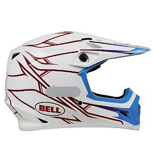 Capacete Moto Bell MX-9 Pinned Branco