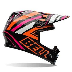 Capacete Moto Bell MX-9 Tagger Scrub Rosa