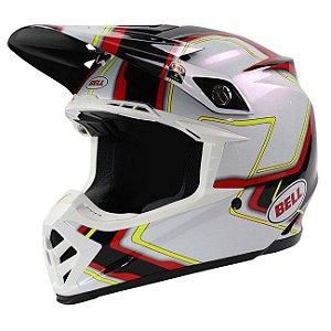 Capacete Moto Bell MOTO-9 Pace Preto Branco