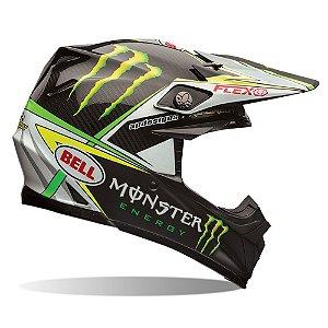 Capacete Moto Bell Moto-9 Flex Pro Circuit Preto Verde
