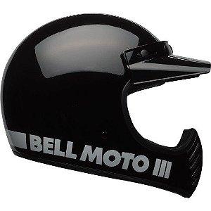 Capacete Moto Bell Moto 3 Classic Preto