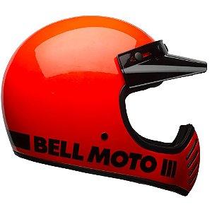 Capacete Moto Bell Moto 3 Classic Laranja Fluo