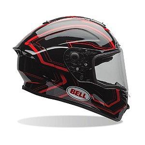 Capacete Moto Bell Star Place Preto Vermelho