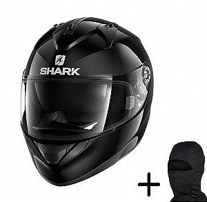 Capacete Moto Shark Ridill Blank BLK Preto