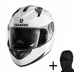 Capacete Moto Shark Ridill Blank WHU Branco