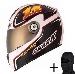Capacete Moto Shark RSI S2 Depuniet WKR Branco