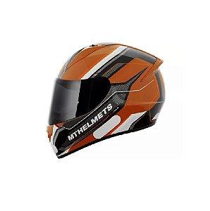 Capacete Moto MT Stinger Pole Laranja Preto