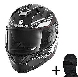 Capacete Moto Shark Ridill Tika KAW Preto Fosco