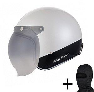 Capacete Moto Zeus 380H Branco Perola K25 Preto