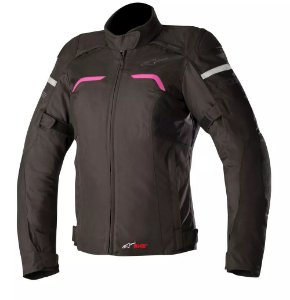 Jaqueta Moto Feminina Alpinestars Hyper Preta Rs Impermeável