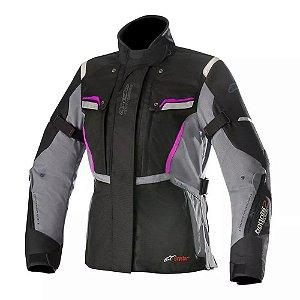 Jaqueta Moto Alpinestars Stela Bogota V2 Drystar Preto-Cinza