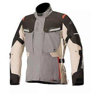 Jaqueta Moto Alpinestars Bogota V2 Cinza Areia Impermeável