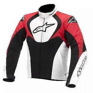 Jaqueta Moto Alpinestars T-Jaws Vermelha Branca Impermeável